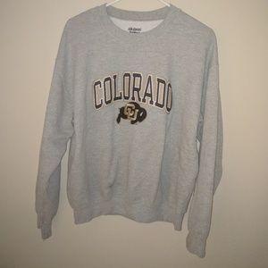 Crew Neck Sweatshirt, Colorado Buffs